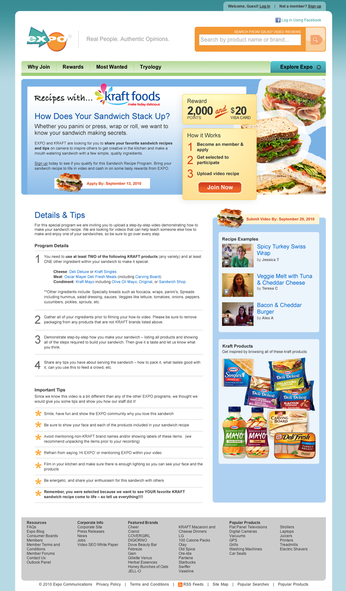 Kraft Product Page